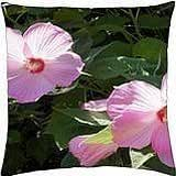 Pink Hibiscus - Throw Pillow Cover Case (18