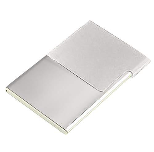 Wffo Men Women Newest Creative Aluminum Holder Half Open Metal Box Cover Credit Business Card Wallet ♚5 Colors Optional…