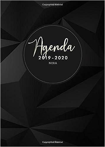 Agenda 2019 2020 nera: luglio 2019 - dicembre 2020, Agenda ...