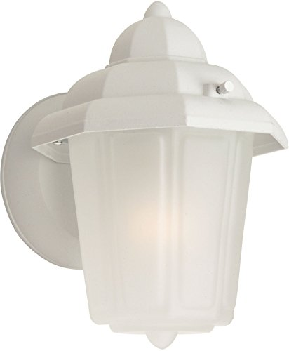 """Craftmade Z160-TW Contractors Outdoor Wall Mount Sconce Lighting, 1-Light, 60 Watts, Textured Matte White (6"""" W x 9"""" H)"""