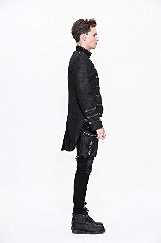 Militare Visivo Cappotto Invernale 6 Devil Monopetto Fashion Casual Con Rivestimento Gotico Punk Misure qR11E0