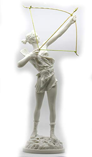 - greekartshop Artemis Diana with Bow Greek Roman Goddess Statue Sculpture Cast Marble 15.9΄΄