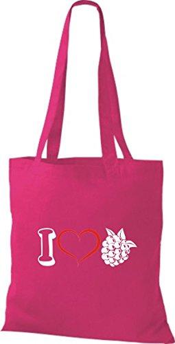Shirtstown - Bolso de tela de algodón para mujer fucsia