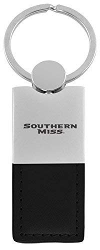 University of Southern Mississippi-Leather and Metal Keychain-Black