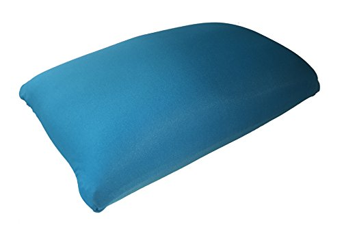 Microbead-Rectangle-Support-Travel-Pillow-with-removable-cover-Peacock-Blue