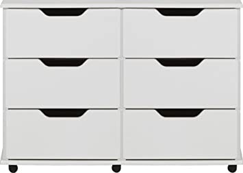 new arrival 807ce 6b0ba White 6 Drawer Chest Of Drawers Ready Assembled Modern Rio ...