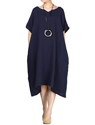 Mordenmiss Womens Plus Dress Pockets product image
