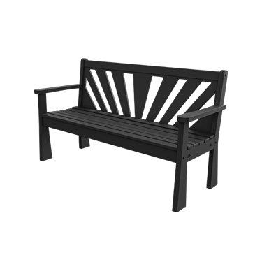 Groovy Amazon Com 5 Recycled Plastic Sunshine Garden Bench Machost Co Dining Chair Design Ideas Machostcouk