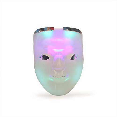 DAXIN DX LED Light up Rave Mask - Half Face Skull mask - Unique 2 in 1 Mask for Halloween