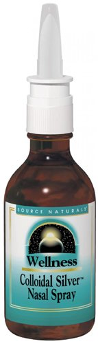 Source Naturals Wellness Colloidal Silver Nasal Spray, 10 ppm, 2 Fluid Ounce