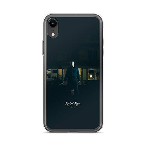 iPhone XR Case Anti-Scratch Motion Picture Transparent Cases Cover Michael Myers Halloween Movies Video Film Crystal Clear -