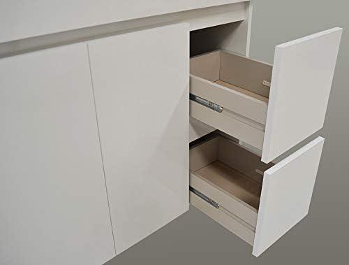 DUCHA.ES Mueble DE BAÑO con Lavabo Espejo Columna Blanco, Aplique ...