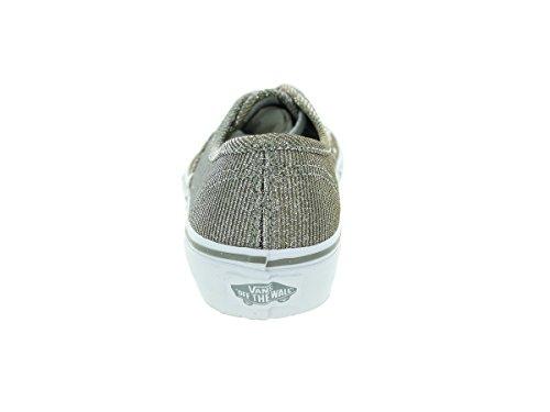 Vans K Authentic, Zapatillas de Estar por Casa Unisex Niños Gris