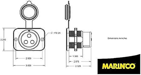 Amazon.com: Marinco 12VCPS3 Trolling Motor Plug/Receptacle: AutomotiveAmazon.com
