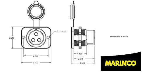 Amazon.com: Marinco Black 12VCPS3 Trolling Motor Plug ... on 12 wire motor wiring diagram, 12 24 trolling motor diagram, manual bilge pump wiring diagram, trolling motor wiring kit, navigator trolling motor wiring diagram, minn kota trolling motor wiring diagram, 24 volt trolling motor diagram, 12 volt electric motor wiring diagram, omc trolling motor wiring diagram, motorguide trolling motor wiring diagram, 36 volt trolling motor wiring diagram, trolling motor circuit breaker wiring diagram, brute trolling motor wiring diagram, trolling motor connections, marinco trolling motor wiring diagram, trolling motor wiring schemes, 12 volt battery bank wiring diagram, 36v trolling motor wiring diagram, trolling motor plugs and receptacles, 24 volt wiring diagram,