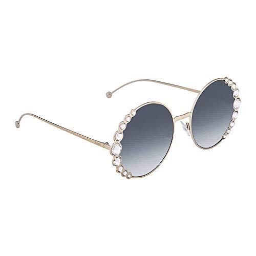 Fendi Women's Round Crystal Sunglasses, Light Gold, One Size