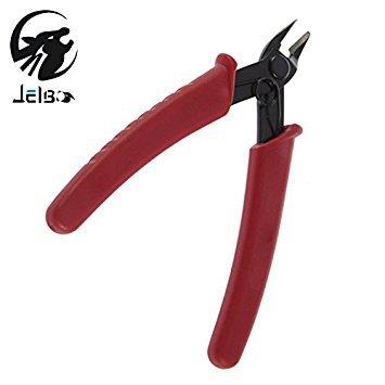 Rojo: Jelbo Mini alicates de corte de alambre eléctrico de 12,7 cm tijeras