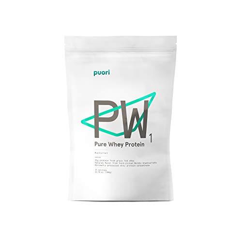 Puori - PW1 Pastured Raised Whey Protein Powder, Non-GMO, 21g Protein, Blackcurrant, 1.98lbs