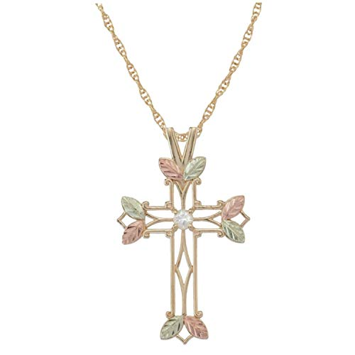 - Black Hills Gold Diamond Cross Necklace (GC2966D)