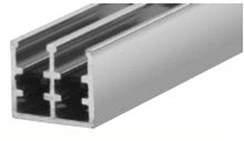 CRL Polished Aluminum Finish Rollertrack Bottom Track 2 m Length, 21 mm Wide, 18 mm High 16780