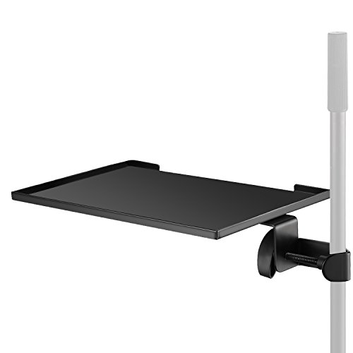 (Neewer Clamp-On Laptop Notebook Rack Tray Holder, Made of Steel with Maximum 3kg /6 pounds Load Capacity for Laptop Projector Camera Shooting Music Sheet (Stand NOT Included))