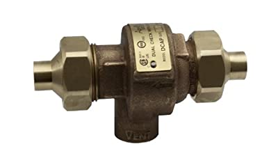 "Apollo 40LF4A44AM Bronze Lead Free Dual Check Valve with Atmospheric Port, 3/4"" NPT Female from Conbraco"