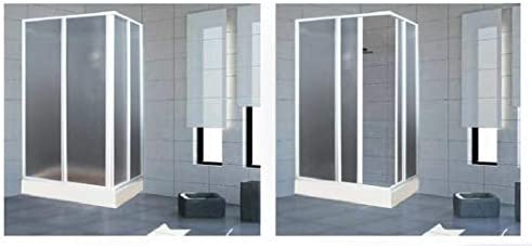 Mampara de ducha Acrílico 3 mm con apertura corredera, Medida: 68/80 x 108/118 cm, Altura 185 cm: Amazon.es: Bricolaje y herramientas