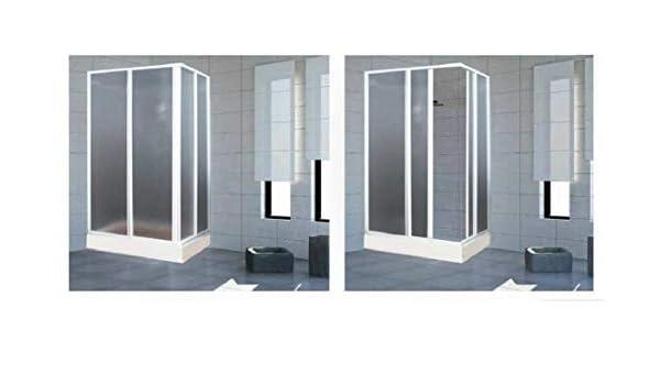 Mampara de ducha Acrílico 3 mm con apertura corredera, Medida: 68 ...