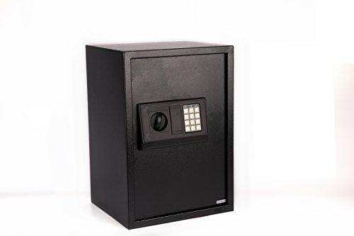 Windaze Large Electronic Digital Safe Security Box Keypad Lock for Gun Cash Jewelry Valuable Storage, Black Panel