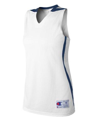 Maillot De Basket-ball Double Dry Sec Pour Femme Blanc / Marron
