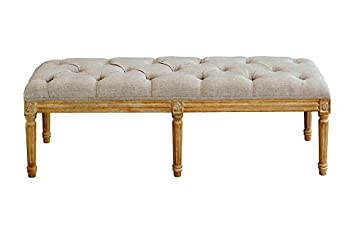 MY-Furniture - French Louis Style shabby chic hand carved Long Bench ...