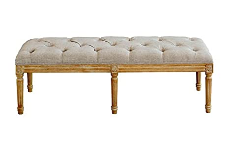 My furniture panca lunga patinata in rovere stile luigi xvi shabby