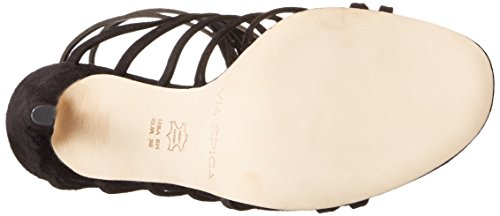 Dress Sandal Black Spiga Via Womens Tisa2 qxIwIOtS