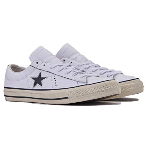 Converse Basses Blanc white egret Sneakers Star Ox Adulte Distressed 102 Lifestyle Mixte One black Y7vnWzYr