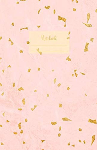 (Notebook: Dotted grid Journal. Bullet Diary. Ideal for Notes, Memories, Journaling, Creative planning and Calligraphy practice. 120 Pages. Soft matte ... idea. (Terrazzo tiles golden pink)