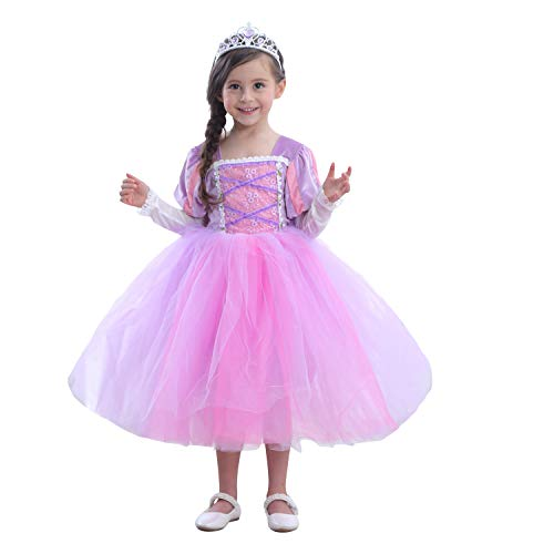 First Carnival New Costume Princess Sofia Dress Character Playing Birthday Prom Halloween Christmas Dress (120(4-5T), Purple) (Sofia The First Character For Birthday Party)