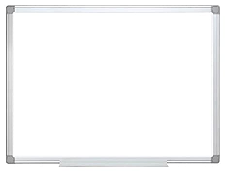 Bi-Office 288688 - Pizarra de acero vitrificado con bandeja, para rotuladores, 100 x 150 cm, color blanco