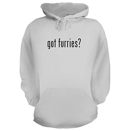 BH Cool Designs got Furries? - Graphic Hoodie Sweatshirt, White, X-Large -