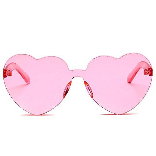 Gafas Uv de Gafas Las Color Logobeing Integrado Rosado Sol Caramelo de En de Corazón Moda Forma De Mujeres dOx7U