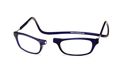Clic Magnetic Reading Glasses in Frosted Matte Blue ; +2.50