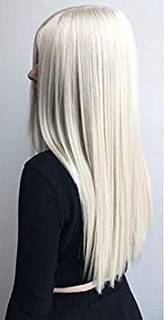 Ugeat 20inch 1 Bundle 100 Percents Remy Straight Weave Human Hair Platinum Blonde Color #60 Real Natural... by Ugeat