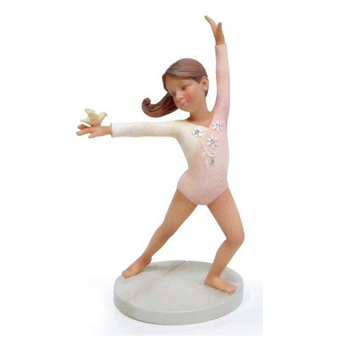 Enesco Foundations Gymnast Figurine, 5-Inch