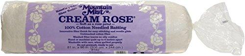 (Cream Rose Soft As Petal 100% Cotton Needled Batting)