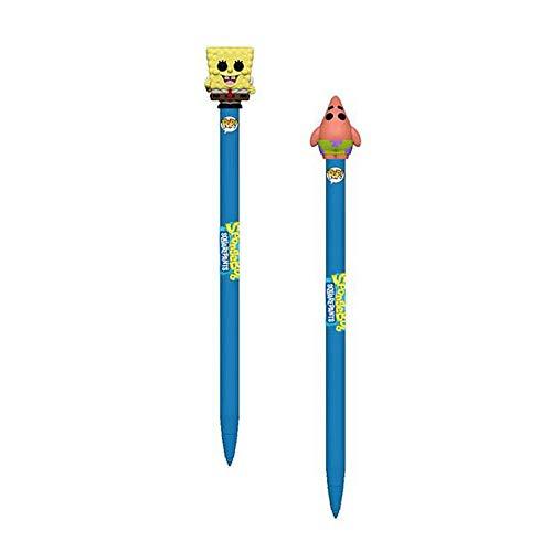 Funko POP! Spongebob Squarepants: Spongebob Squarepants and Patrick Star Pen Toppers - 2 Piece Bundle (School Spongebob Supplies)