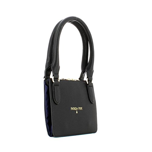 PATRIZIA PEPE BAG 2V6581A1ZL-H303 Blue nylon /Black