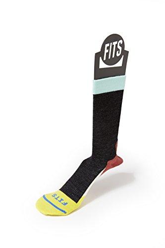 FITS Light Hiker - Crew Socks, Coal, - Fender Contour Blue