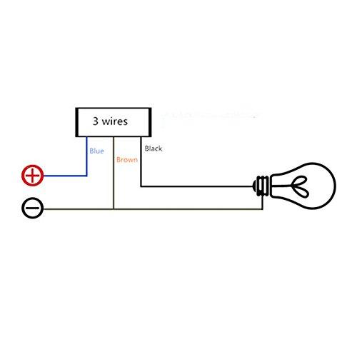 Iztoss 12v 10A Motorcycle CNC aluminium alloy on-off rocker Switches 7/8'' 22-23mm Handlebar headlight Switch kits with indicator light Sport Dirt Electric Bike Interrupteur Moto by IZTOSS (Image #5)