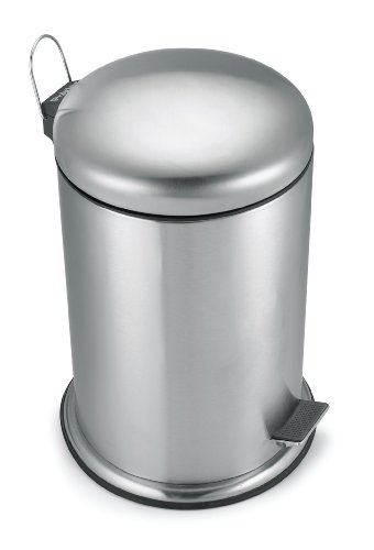 Polder Commercial Style Step Can, Stainless Steel, 5.3-Gallon (Cans Polder Trash)