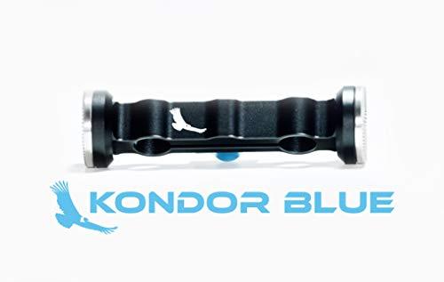 KONDOR BLUE 15mm Dual Rod Clamp Arri Rosette (M6, 31.8mm) Camera Shoulder Support Extension Arm Rosette Handles Connector