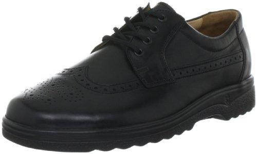 Ganter Eric, Weite G 4-256020-01000 - Zapatos casual de napa para hombre Negro